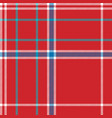 red background check fabric texture seamless vector image vector image