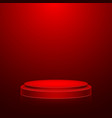 round stage podium with light stage backdrop vector image vector image