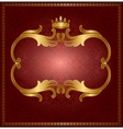 Royal gold frame vector image vector image