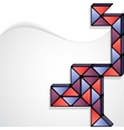 Rubiks Snake abstract minimal design vector image vector image