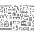 school tools seamless pattern vector image