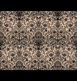 seamless black lace vector image vector image