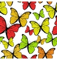 Seamless pattern with bright colorful butterflies vector image