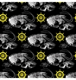 seamless pattern with shrimp lemon helm vector image vector image