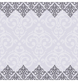 seamless purple and white frameborder in damask vector image vector image