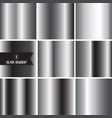set of silver foil texture vector image