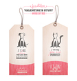 Set of Valentines day gift tags