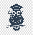 silhouette icon back to school owl vector image vector image