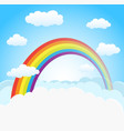 sky background with rainbow vector image vector image