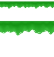 Slime Drips Toxic Flowing Liquid Seamless Border vector image