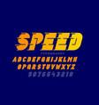 speed style font typography design alphabet vector image