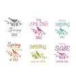 spring sale badge signs vector image vector image