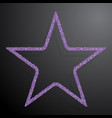 the star banner of purple sequins background vector image vector image