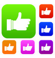 thumb up sign set collection vector image vector image
