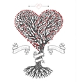 Tree crown like heart with leafs vector image vector image