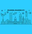 united states oklahoma city winter holidays vector image vector image