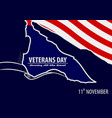 veterans day poster template vector image