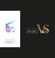 victory star logo company vs monogram vs icon bu vector image vector image
