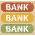 Vintage BANK stamp set vector image vector image