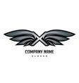 x wings logo vector image vector image