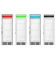 display refrigerator merchandise fridge colored vector image