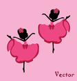 Beautiful drawing ballerina on a pink background vector image