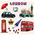 London symbols Set of drawings vector image