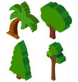 3d design for different types of trees vector image