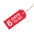 6 days to go sign vector image