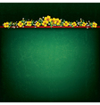 abstract green grunge background with yellow vector image vector image