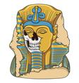 ancient pharaoh statue a skull vector image