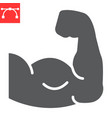 arm muscle glyph icon fitness and bodybuilder