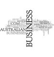 australian business for sale text word cloud vector image vector image