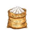 bakery flour in sack sketch icon vector image