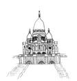 basilica sacre coeur vector image