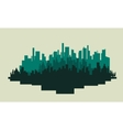 Big city silhouettes scenery vector image vector image