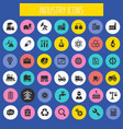 big industry icon set trendy line icons vector image vector image