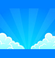 blue sky with white clouds background vector image vector image