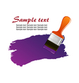 Brush trace vector image