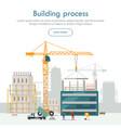 building process unfinished crane vector image