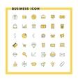 Business flat design icon set Money shopping vector image