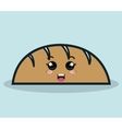 cartoon bread facial expression isolated icon vector image