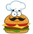 Chef Burger Cartoon vector image vector image
