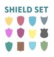 Colorful Shields Set vector image vector image