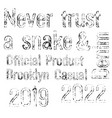 denim label typographic elements vector image vector image