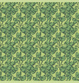 drawing green foliage leaves floral seamless vector image
