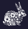 Easter design with bunny from floral lace vector image vector image
