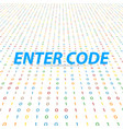 enter the code for the global digital network vector image