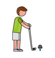 ethlete practicing golf avatar vector image vector image