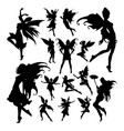 fairy silhouettes vector image